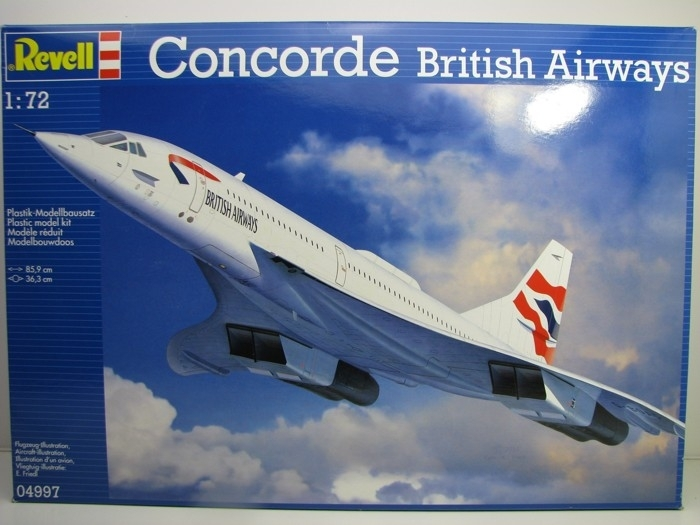 Concorde British Airways stavebnice 1:72 Revell